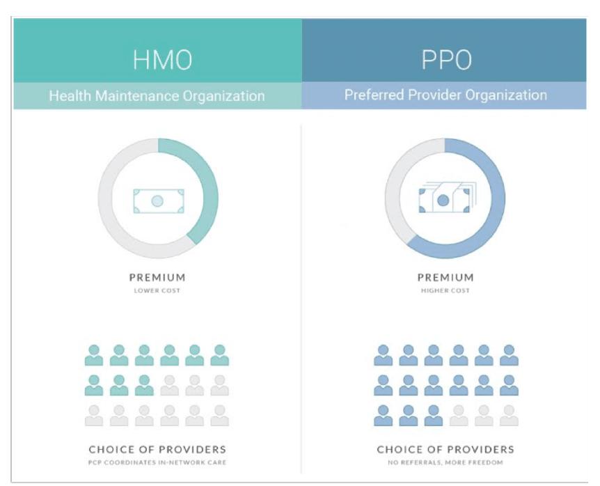 Santé USA : HMO et PPO